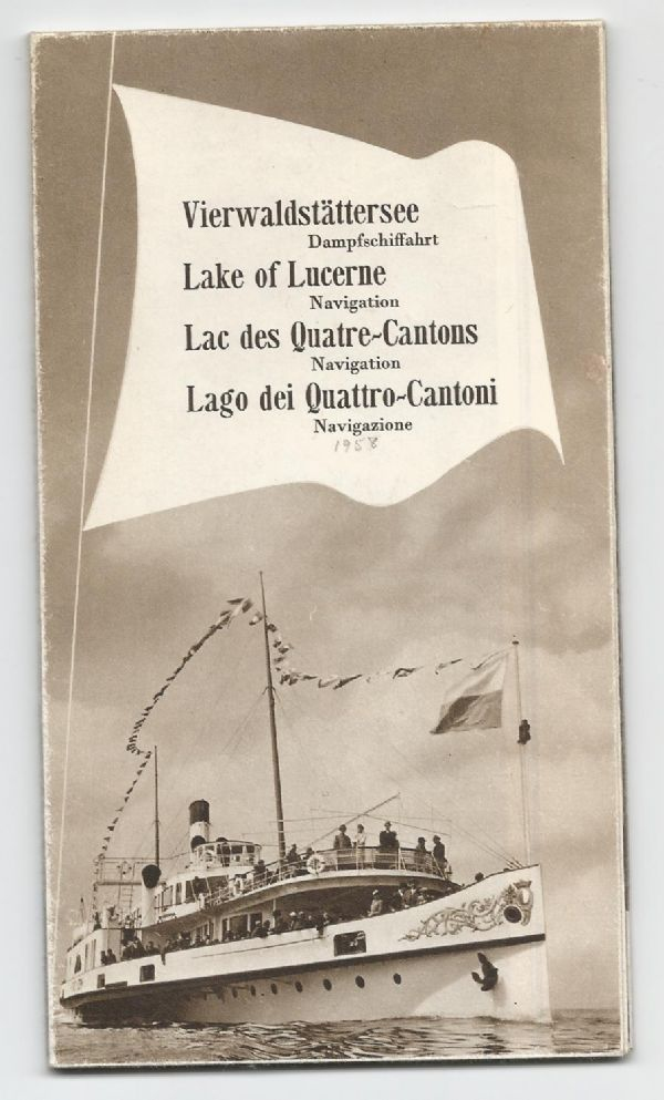 DGV - 1958 Lake Lucerne Navigation Map & Guide